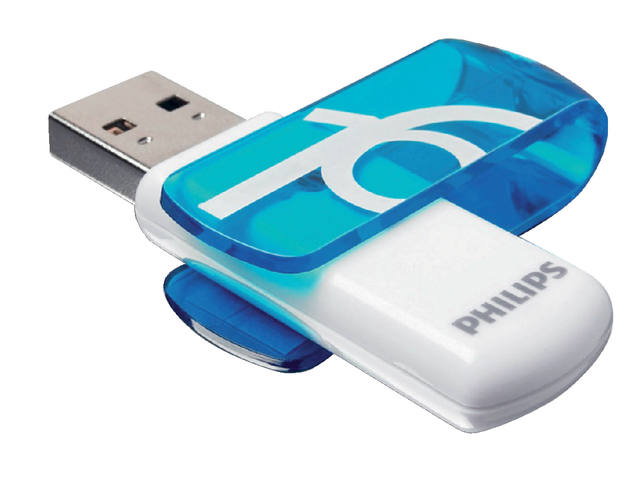 USB-STICK PHILIPS VIVID KEY TYPE 16GB 2.0 BLAUW 1