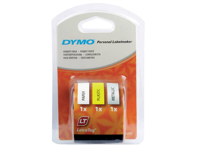 LABELTAPE DYMO 91240 LETRATAG 3-PACK ASS 1